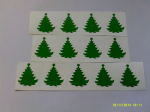 30 x green Christmas tree stickers